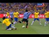 Бразилия - Уругвай 2:1 (обзор матча - К.К. 2013,1/2 финала).